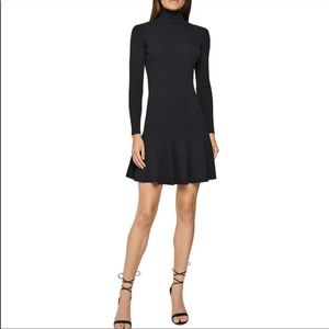 Reiss turtle neck dress in black. Size 0